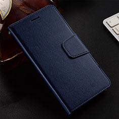 Custodia Portafoglio In Pelle Cover con Supporto T12 per Huawei Honor 20 Lite Blu