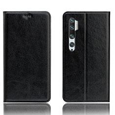 Custodia Portafoglio In Pelle Cover con Supporto T12 per Xiaomi Mi Note 10 Nero