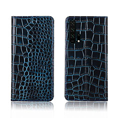 Custodia Portafoglio In Pelle Cover con Supporto T14 per Huawei Honor 20 Pro Blu