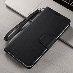 Custodia Portafoglio In Pelle Cover con Supporto T15 per Xiaomi Mi Note 10 Nero