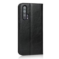 Custodia Portafoglio In Pelle Cover con Supporto T16 per Huawei Honor 20 Pro Nero