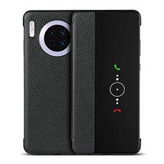 Custodia Portafoglio In Pelle Cover con Supporto T16 per Huawei Mate 30 Pro Nero