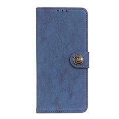 Custodia Portafoglio In Pelle Cover con Supporto T17 per Samsung Galaxy Note 20 Ultra 5G Blu