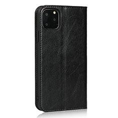 Custodia Portafoglio In Pelle Cover con Supporto T18 per Apple iPhone 11 Pro Max Nero