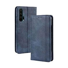 Custodia Portafoglio In Pelle Cover con Supporto T18 per Huawei Honor 20 Pro Blu