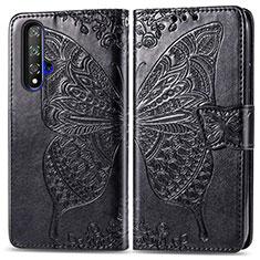 Custodia Portafoglio In Pelle Cover con Supporto T19 per Huawei Honor 20 Nero