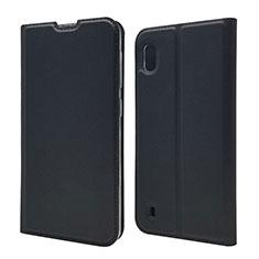Custodia Portafoglio In Pelle Cover con Supporto U01 per Samsung Galaxy A10 Nero