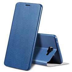 Custodia Portafoglio In Pelle Cover S01 con Supporto per Samsung Galaxy A9 (2016) A9000 Blu