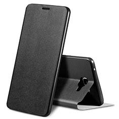 Custodia Portafoglio In Pelle Cover S01 con Supporto per Samsung Galaxy A9 Pro (2016) SM-A9100 Nero