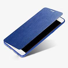 Custodia Portafoglio In Pelle Cover S01 con Supporto per Samsung Galaxy C9 Pro C9000 Blu
