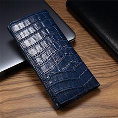 Custodia Portafoglio In Pelle Cover T01 per Huawei Mate Xs 5G Blu