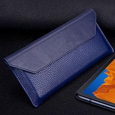 Custodia Portafoglio In Pelle Cover T02 per Huawei Mate Xs 5G Blu