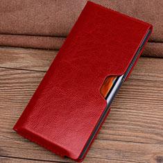 Custodia Portafoglio In Pelle Cover T04 per Huawei Mate Xs 5G Rosso