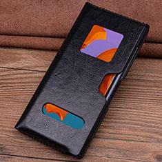 Custodia Portafoglio In Pelle Cover T05 per Huawei Mate Xs 5G Nero