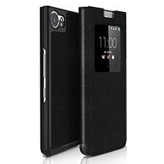 Custodia Portafoglio In Pelle per Blackberry KEYone Nero
