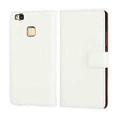 Custodia Portafoglio In Pelle per Huawei P9 Lite Bianco
