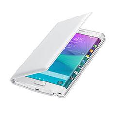 Custodia Portafoglio In Pelle per Samsung Galaxy Note Edge SM-N915F Bianco