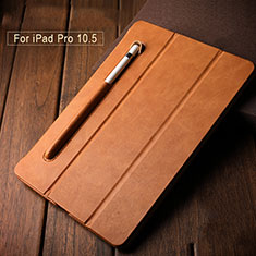 Custodia Portafoglio In Pelle Supporto con Pencil Holder per Apple iPad Pro 10.5 Marrone