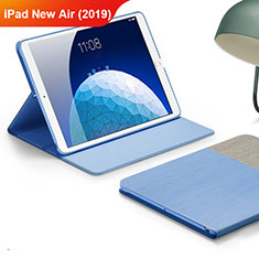 Custodia Portafoglio In stoffa con Stand per Apple iPad Air 3 Cielo Blu