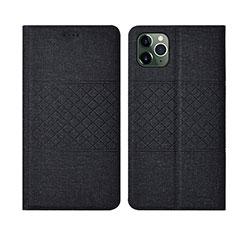 Custodia Portafoglio In stoffa con Supporto H01 per Apple iPhone 11 Pro Nero