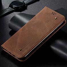 Custodia Portafoglio In stoffa con Supporto H01 per Samsung Galaxy S20 Ultra 5G Marrone