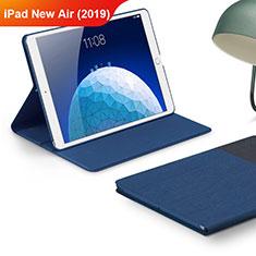 Custodia Portafoglio In stoffa con Supporto per Apple iPad Air 3 Blu