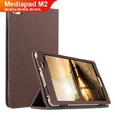 Custodia Portafoglio In stoffa con Supporto per Huawei Mediapad M2 8 M2-801w M2-803L M2-802L Marrone