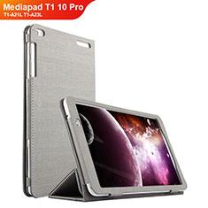 Custodia Portafoglio In stoffa con Supporto per Huawei Mediapad T1 10 Pro T1-A21L T1-A23L Grigio