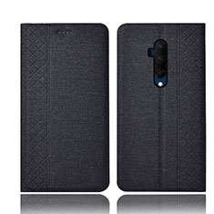Custodia Portafoglio In stoffa con Supporto per OnePlus 7T Pro Nero