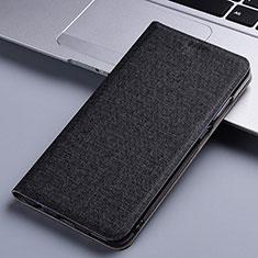 Custodia Portafoglio In stoffa con Supporto per Samsung Galaxy A81 Nero