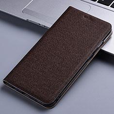 Custodia Portafoglio In stoffa con Supporto per Samsung Galaxy M60s Marrone