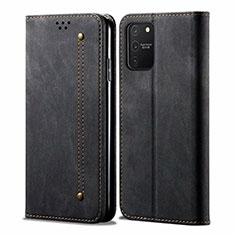 Custodia Portafoglio In stoffa con Supporto per Samsung Galaxy S10 Lite Nero