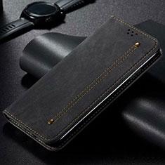 Custodia Portafoglio In stoffa con Supporto per Xiaomi Mi Note 10 Lite Nero