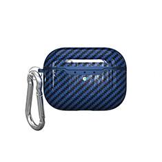 Custodia Portatile con Moschettone per AirPods Pro Custodia di Ricarica C05 Blu