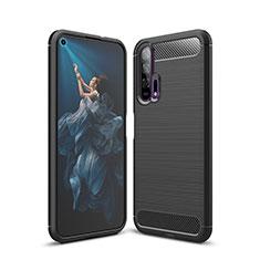 Custodia Silicone Cover Morbida Line C01 per Huawei Honor 20 Pro Nero