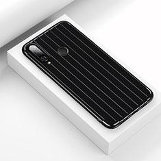 Custodia Silicone Cover Morbida Line C01 per Huawei P30 Lite Nero