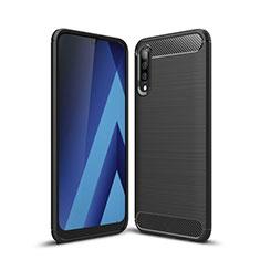 Custodia Silicone Cover Morbida Line C01 per Samsung Galaxy A70 Nero