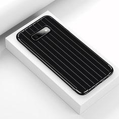 Custodia Silicone Cover Morbida Line C01 per Samsung Galaxy S10e Nero