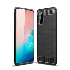 Custodia Silicone Cover Morbida Line C01 per Samsung Galaxy S20 5G Nero
