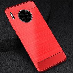 Custodia Silicone Cover Morbida Line C02 per Huawei Mate 30E Pro 5G Rosso