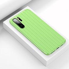 Custodia Silicone Cover Morbida Line C02 per Huawei P30 Pro Verde