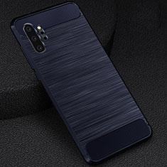 Custodia Silicone Cover Morbida Line C02 per Samsung Galaxy Note 10 Plus 5G Blu