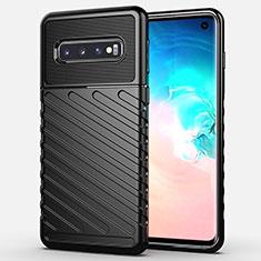 Custodia Silicone Cover Morbida Line C02 per Samsung Galaxy S10 Nero