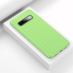 Custodia Silicone Cover Morbida Line C02 per Samsung Galaxy S10 Plus Verde