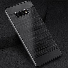Custodia Silicone Cover Morbida Line C02 per Samsung Galaxy S10e Nero