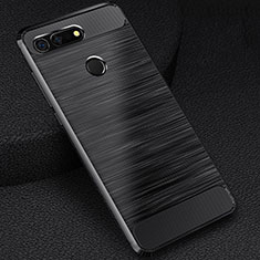 Custodia Silicone Cover Morbida Line C03 per Huawei Honor V20 Nero