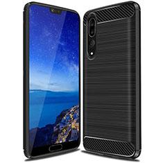 Custodia Silicone Cover Morbida Line C03 per Huawei P20 Pro Nero