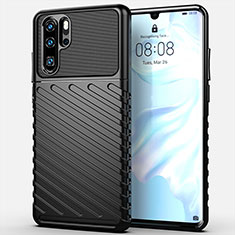 Custodia Silicone Cover Morbida Line C03 per Huawei P30 Pro Nero