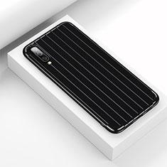 Custodia Silicone Cover Morbida Line C03 per Samsung Galaxy A70 Nero