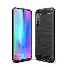 Custodia Silicone Cover Morbida Line C04 per Samsung Galaxy A70 Nero